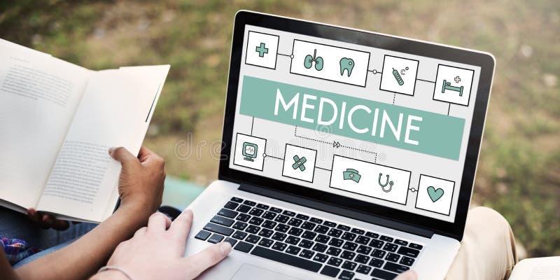 Concept van de Geneeskunde het Medische Wellness van de gezondheidsbehandeling royalty-vrije stock afbeeldingen
