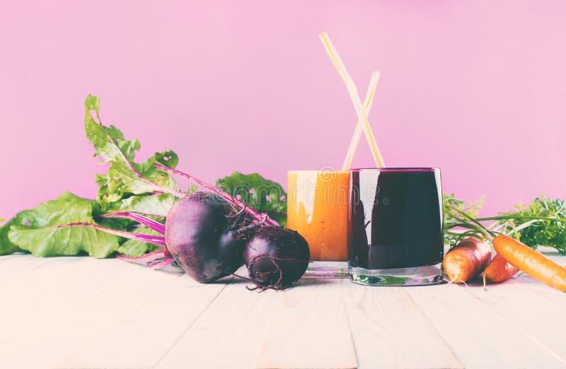 Concept van de de Glazengezondheid van sappensmoothie het Verschillende stock fotografie