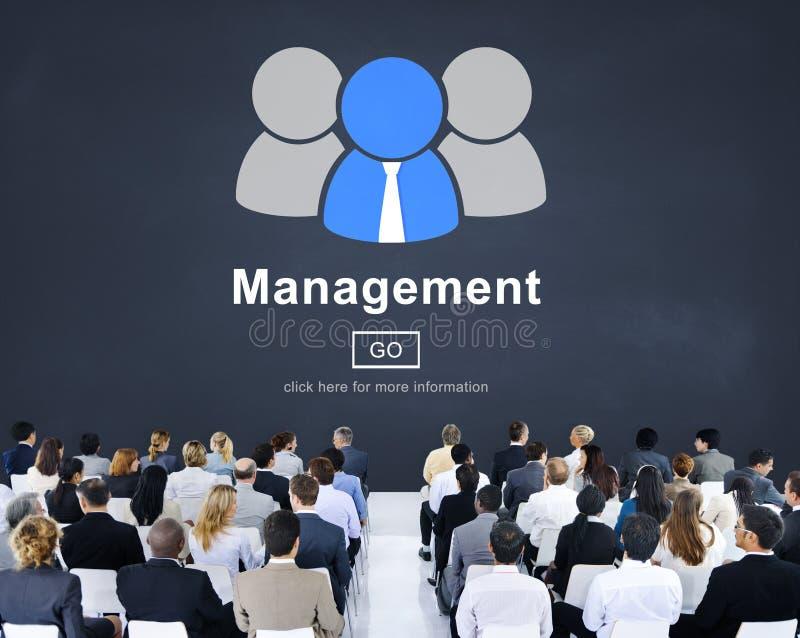 Concept van de het Proces het Controlerende Strategie van de Managamentorganisatie royalty-vrije stock afbeelding