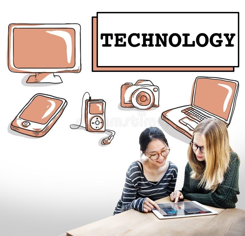 Concept van de Innovatietechnologie van Internet van technologiegegevens het Digitale stock fotografie
