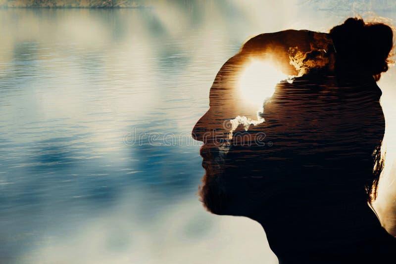 Concept van de mensen` s het geestelijke gezondheid stock foto
