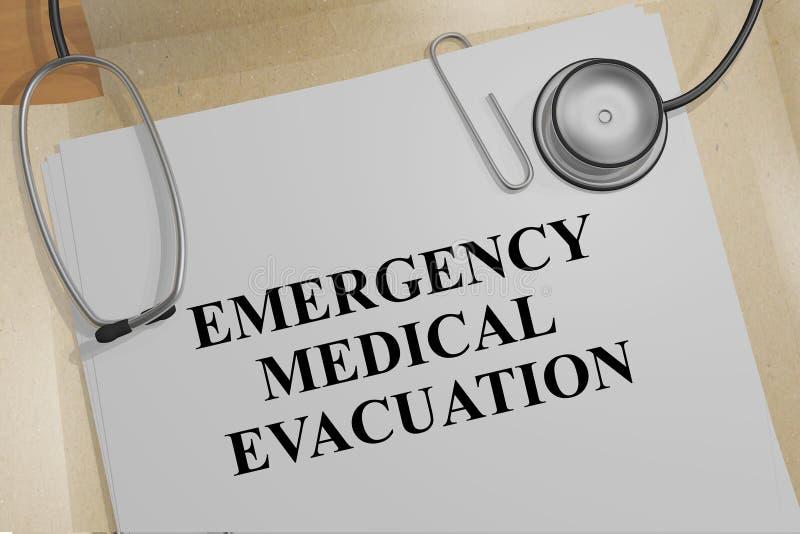 Concept van de noodsituatie het Medische Evacuatie stock illustratie