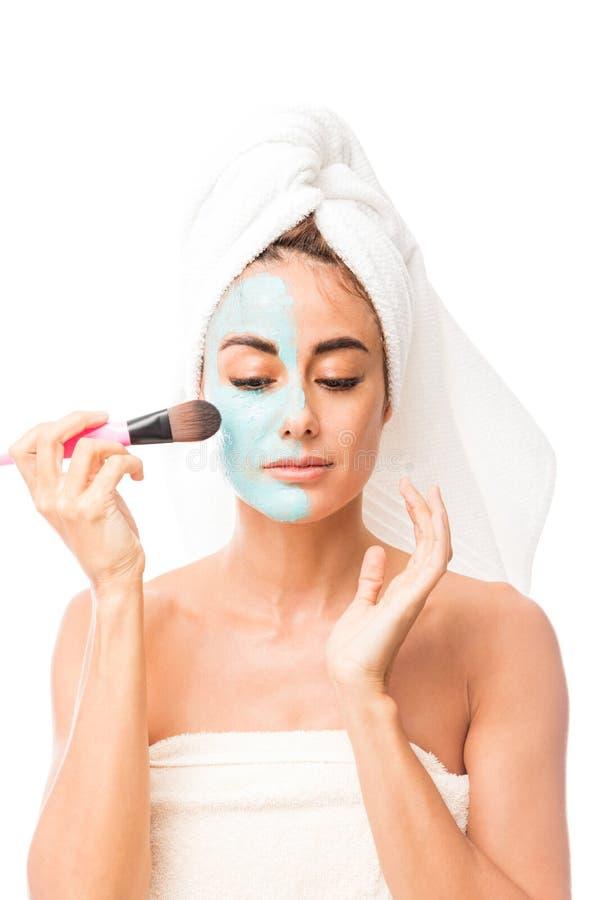 Concept van de Skincare het gezichtsbehandeling royalty-vrije stock afbeeldingen