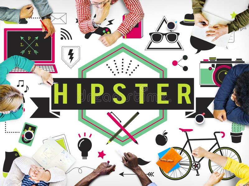 Concept van de Stijl Retro Indie van de Hipsterlevensstijl vector illustratie