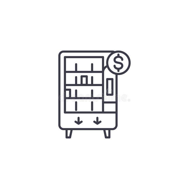 Concept van het automaat het lineaire pictogram Het vectorteken van de automaatlijn, symbool, illustratie vector illustratie