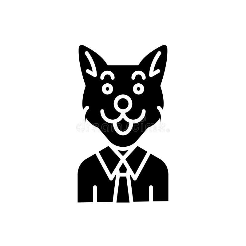 Concept van het Corruptor het zwarte pictogram Corruptor vlak vectorsymbool, teken, illustratie royalty-vrije illustratie