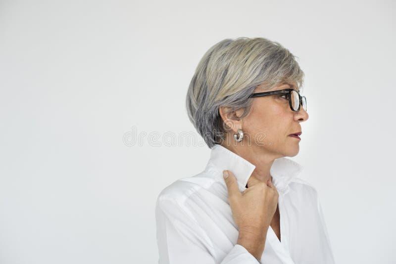 Concept van het de Achtingsportret van het vrouwenvertrouwen het Zelf stock fotografie