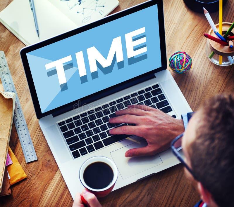 Concept van het de Duurprogramma van het tijdbeheer het Punctuele royalty-vrije stock foto's