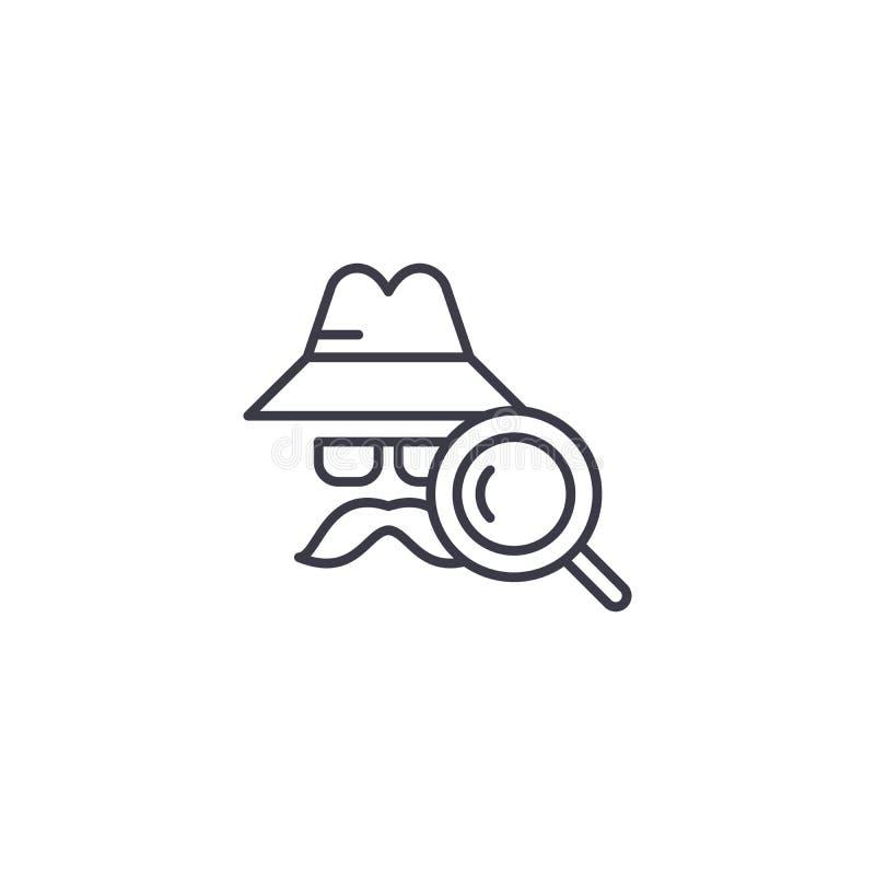 Concept van het detective het lineaire pictogram Het vectorteken van de detectivelijn, symbool, illustratie vector illustratie