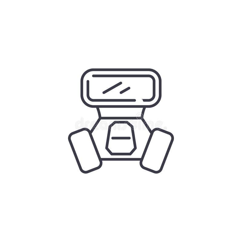 Concept van het inhaleertoestel het lineaire pictogram Het vectorteken van de inhaleertoestellijn, symbool, illustratie royalty-vrije illustratie