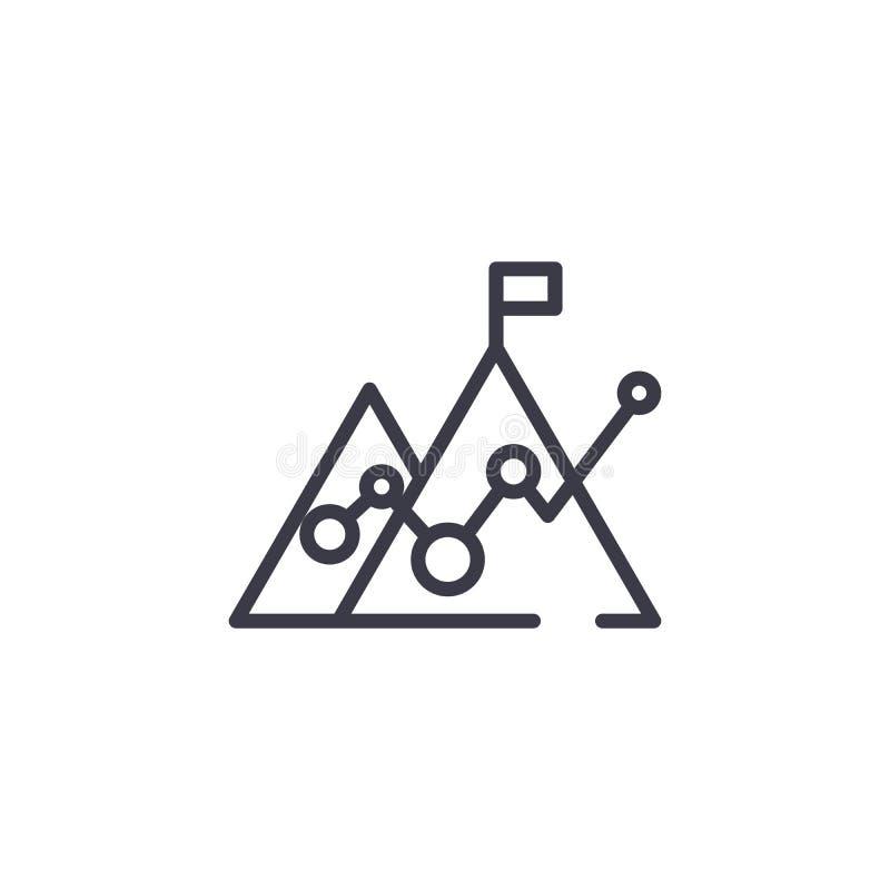 Concept van het opbrengsten het lineaire pictogram Het vectorteken van de opbrengstenlijn, symbool, illustratie stock illustratie
