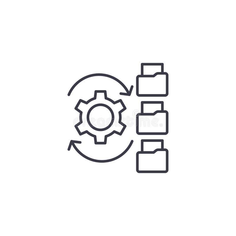 Concept van het Paperflow het lineaire pictogram Het vectorteken van de Paperflowlijn, symbool, illustratie royalty-vrije illustratie