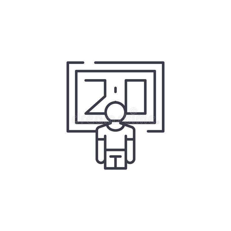 Concept van het score het lineaire pictogram Het vectorteken van de scorelijn, symbool, illustratie royalty-vrije illustratie