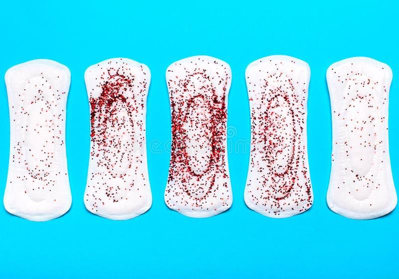 Concept van kritieke dagen, menstruatiecyclus, menstruatie royalty-vrije stock foto