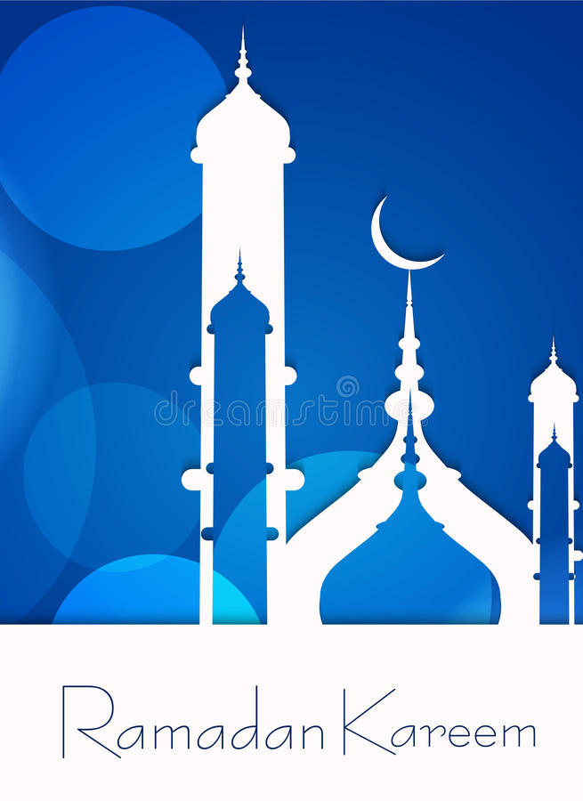 Concept van moskee het ramadan kareem voor moslimgemeenschap royalty-vrije illustratie