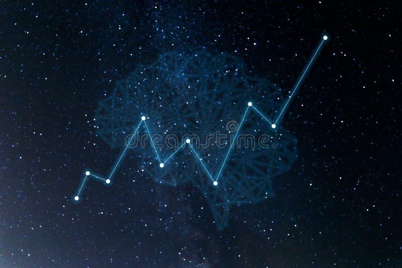 Concept vergrote analytics royalty-vrije illustratie