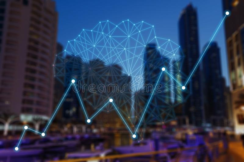 Concept vergrote analytics vector illustratie