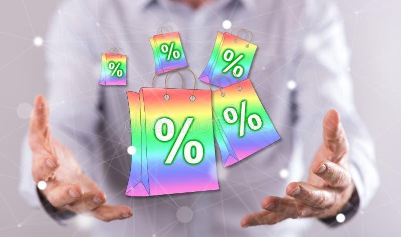 Concept verkoop en kortingen stock foto's