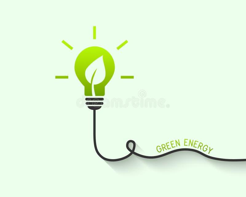 Concept vert d'énergie illustration de vecteur