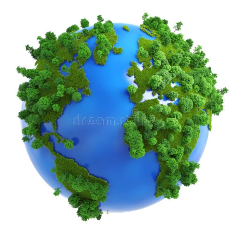 Concept vert d'isolement de planète
