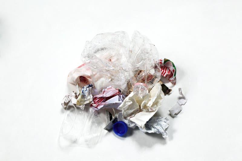 Concept vert viable d'économie : pile de déchets images stock