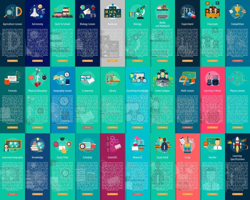 Concept vertical de bannière d'éducation et de la Science illustration libre de droits