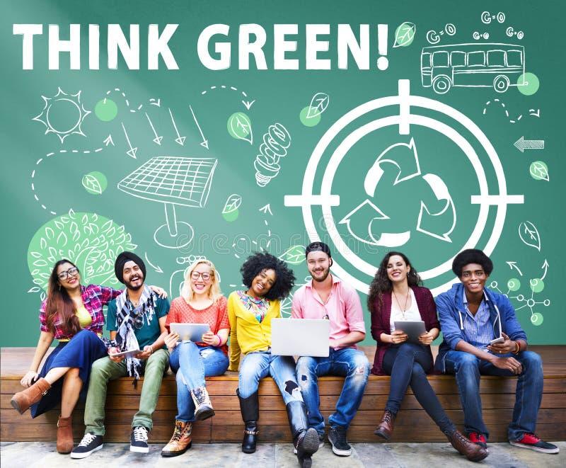Concept viable d'environnement amical d'énergie d'écologie images libres de droits