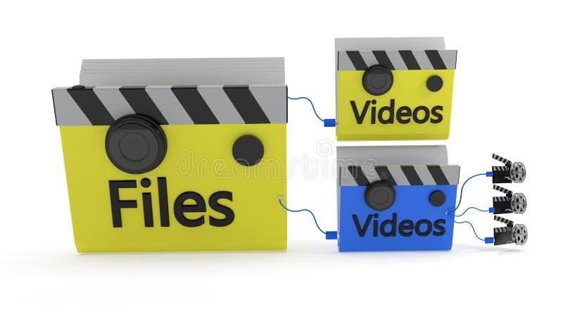 The concept of the video folder MainFolder, 3d rendering. The concept of the video folder MainFolder, 3d render stock illustration