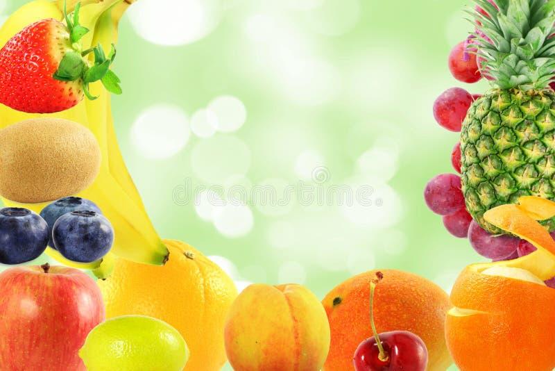 Concept vivant sain de style de vie de nourriture de fond mélangé de fruits image stock