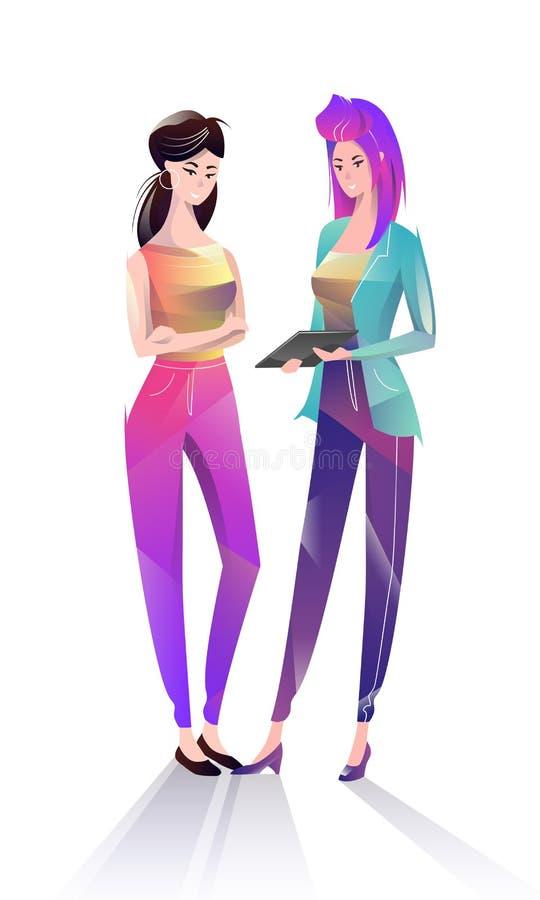 Concept in vlakke stijl met beambten vector illustratie