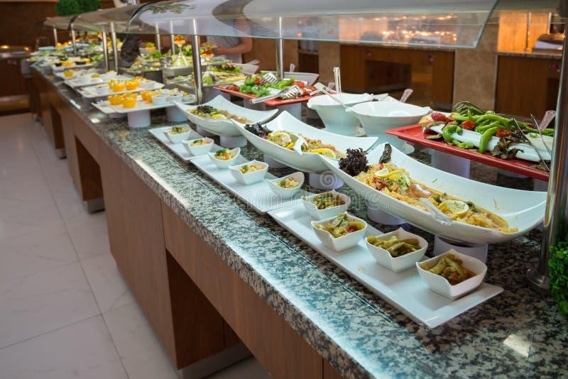 Concept voedsel alle-Inclusieve buffet-stijl in Turkije stock afbeeldingen