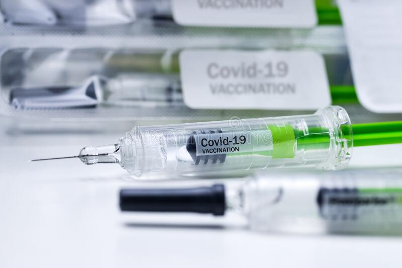 Concept voor covid-19 coronavirvaccinaties royalty-vrije stock foto