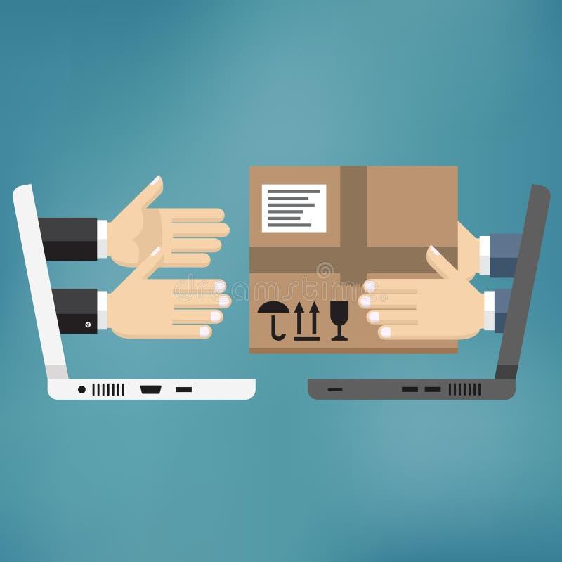 Concept voor de leveringsdienst stock afbeeldingen