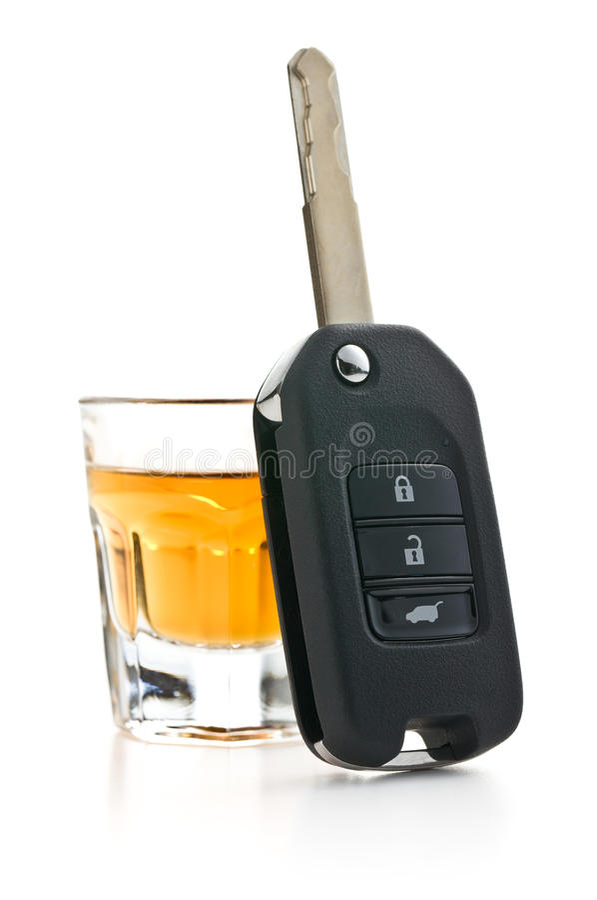 Concept voor dronkenschap bij het rijden royalty-vrije stock afbeelding