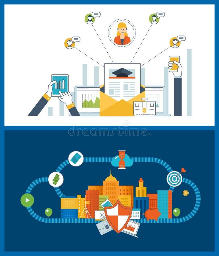 Concept voor investering, strategie planning, financiën, strategisch beheer, financiële strategie stock illustratie