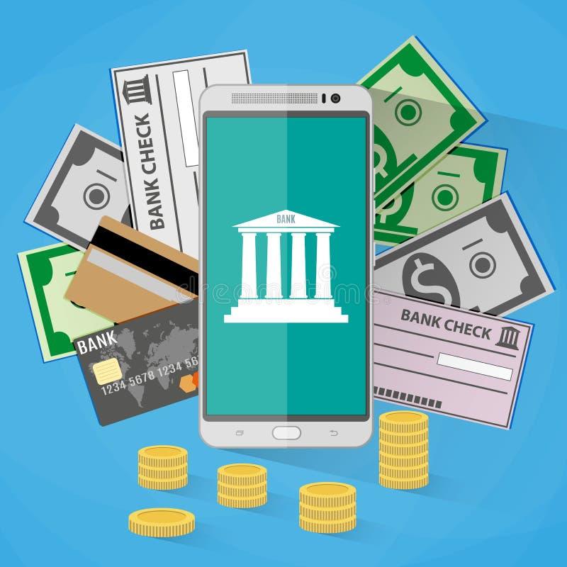 Concept voor mobiel bankwezen vector illustratie