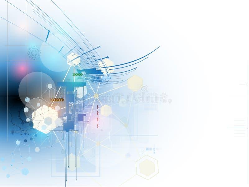 Concept voor Nieuwe Technologie Collectieve Zaken & ontwikkeling stock illustratie