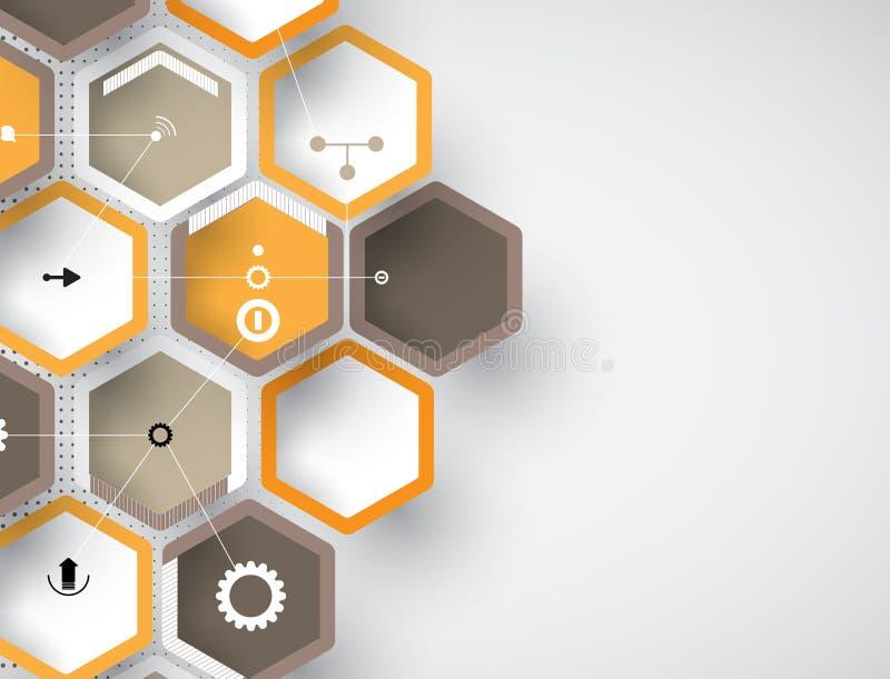 Concept voor Nieuwe Technologie Collectieve Zaken & ontwikkeling royalty-vrije illustratie
