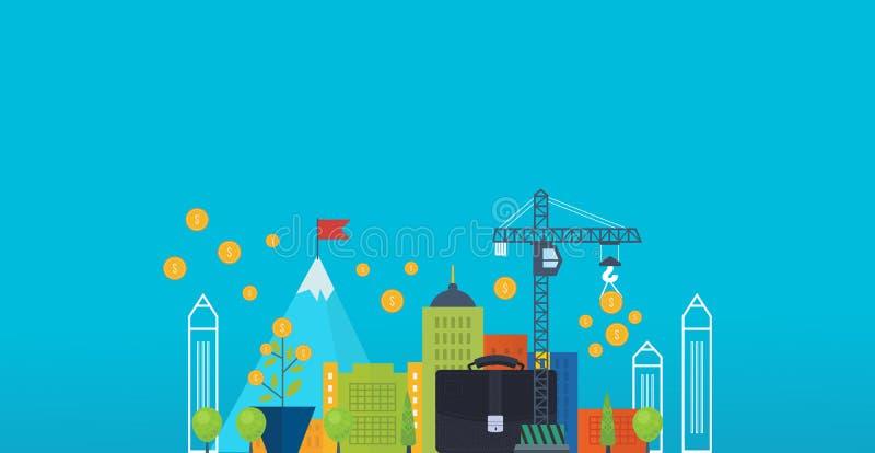 Concept voor slimme investering, financiën, bankwezen, strategisch beheer, stock illustratie