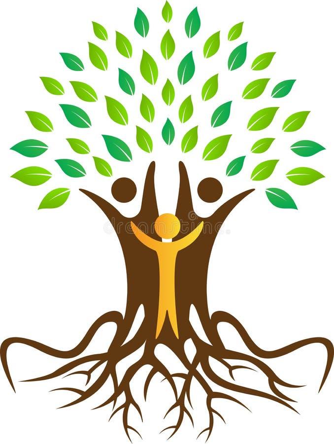 Concept voor Stamboom, het natuurlijke leven, vriendschappelijke eco vector illustratie