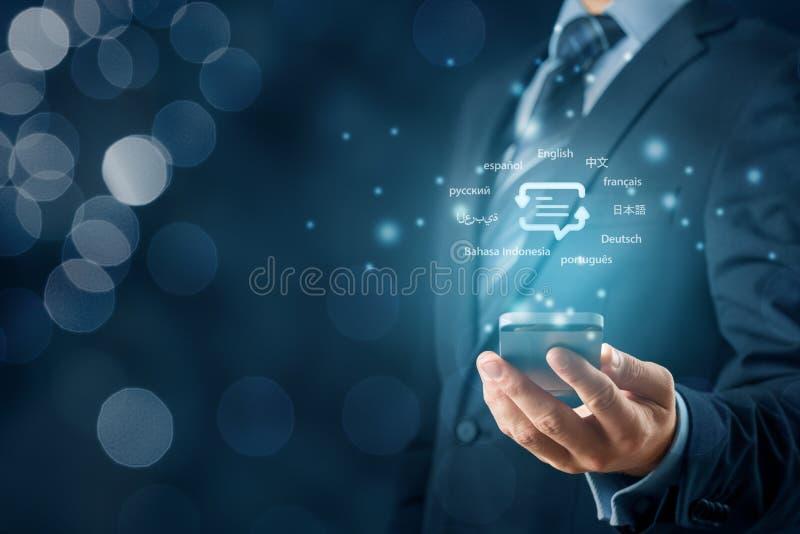Concept voor vertaler-app royalty-vrije stock foto