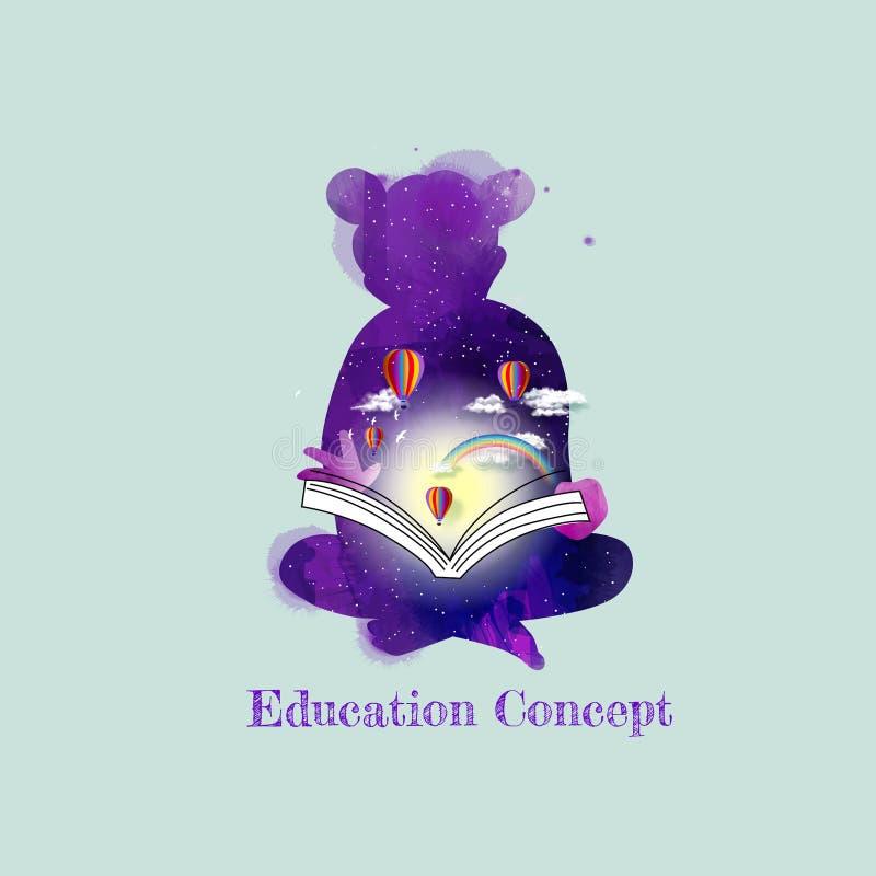 Concept vrijheid en verwezenlijking Onderwijs Duif als symbool van liefde, pease vector illustratie