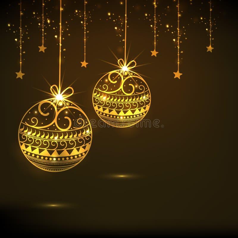 Concept Vrolijke Kerstmis en Gelukkige Nieuwjaarvieringen royalty-vrije illustratie