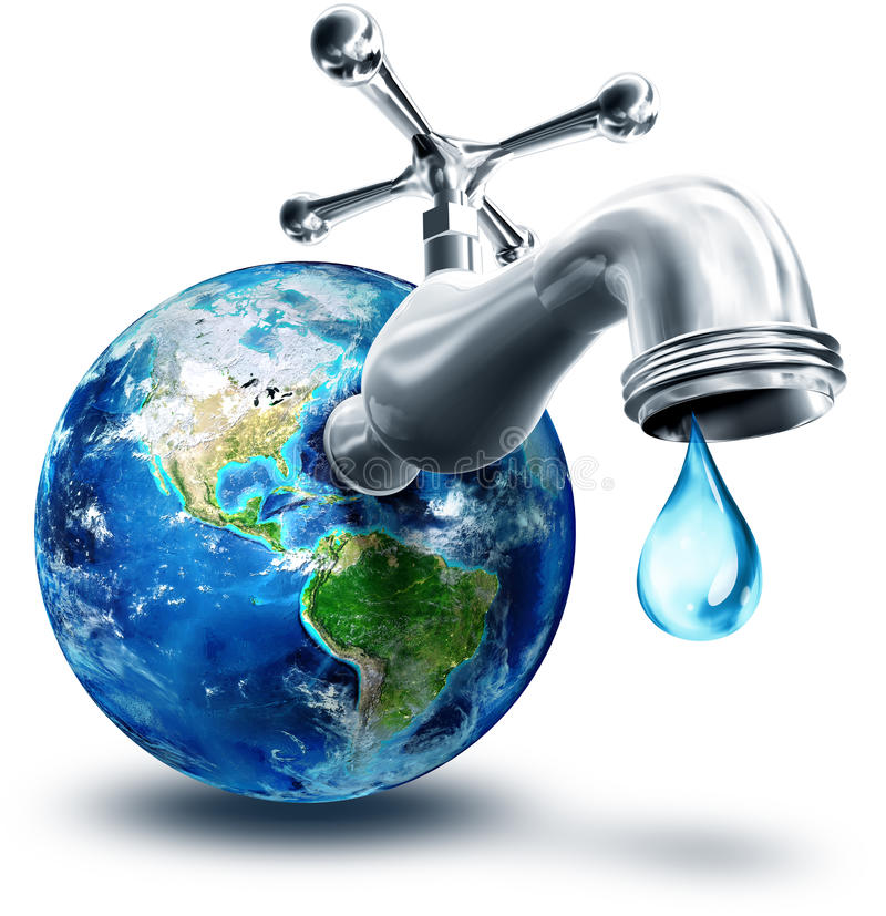 Concept of water conservation. In America royalty free illustration