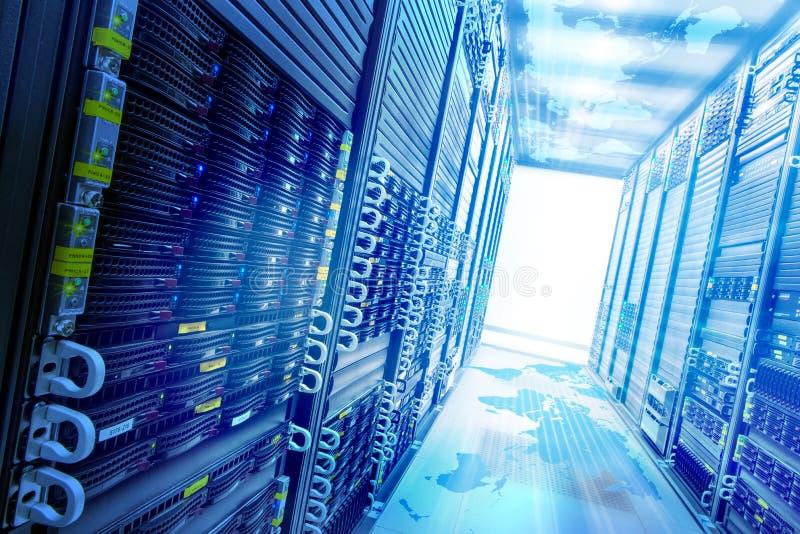 Concept web storage. Conceptual Web service station with data server racks
