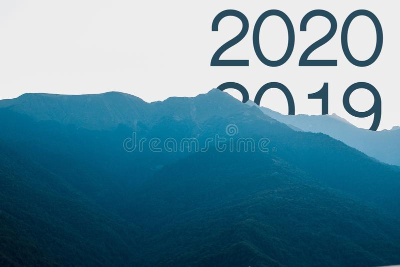 Concept welcome merry christmas and happy new year 2020.  stock photos