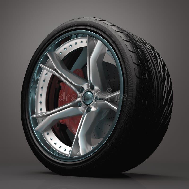 Download Concept Wheel stock illustration. Illustration of tire - 26936939
