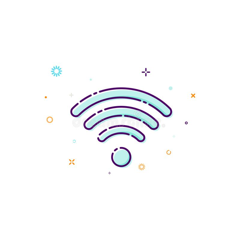 Concept wifi icon. Vector illustration of wireless access point. Thin line flat design element vector illustration