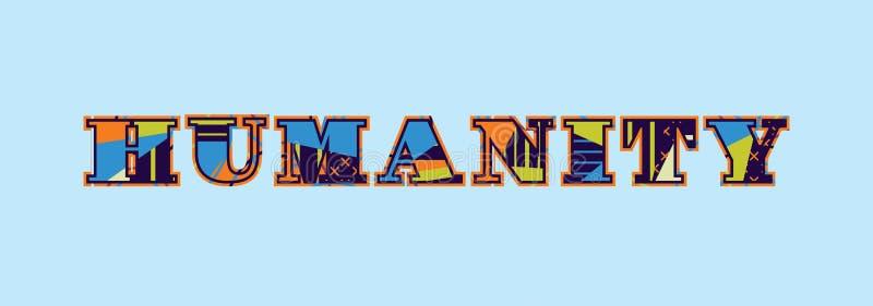 Concept Word Art Illustration d'humanité illustration de vecteur