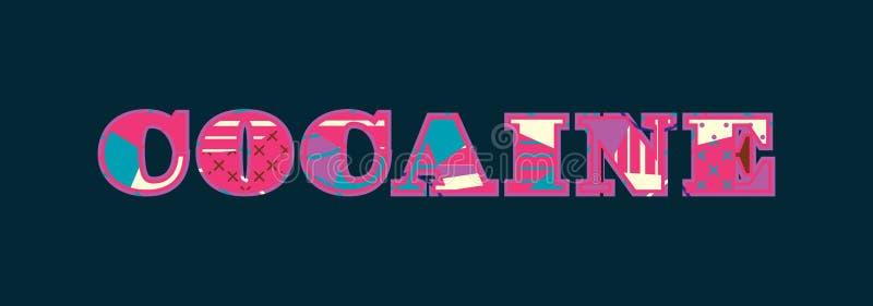 Concept Word Art Illustration de cocaïne illustration stock